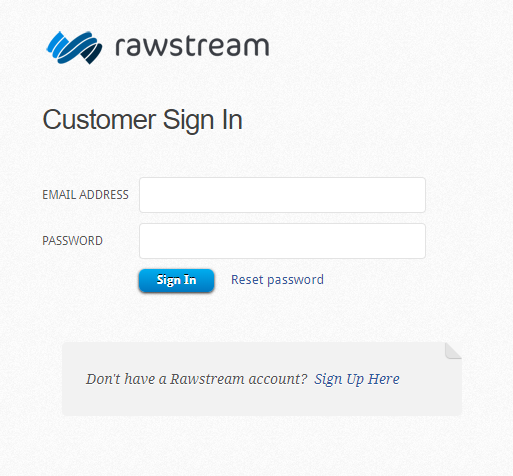 Rawstream Login
